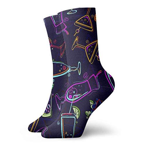 Kevin-Shop Farbige Weingläser Adult Short Socks Nette Socken für Herren Damen Yoga Wandern Radfahren Laufen Fußball Sport