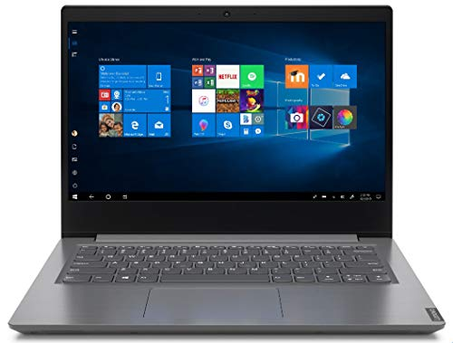 Lenovo V14 - Ordenador portátil 14' HD (Athlon 3020E, 4GB RAM, 128GB SSD, UMA Graphics, Windows 10 Pro), Color gris - Teclado QWERTY español