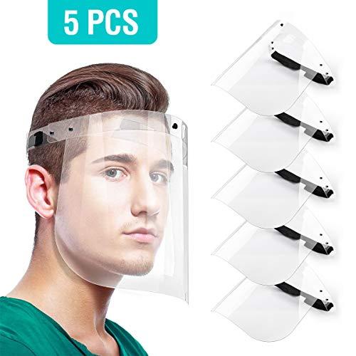 TAPCET 5Pcs Protectores Faciales de Seguridad, protección Visera, Ojo Protección