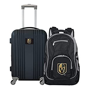 NHL Vegas Golden Knights 2-Piece Luggage Set BLACK by Mojo Licensing, LLC