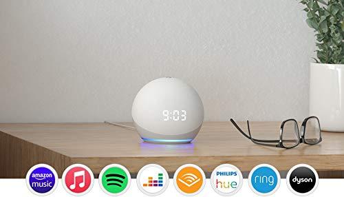 Echo Dot (4th generation)   Smart speaker with clock and Alexa   Glacier White