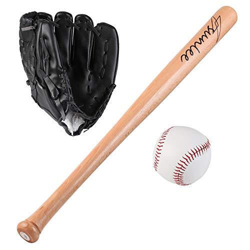 FHCSAO Kinder Jungen Mädchen Baseball Starter Set,Pitcher Softball Glove,Outdoor Sporthandschuh,Batting Handschuhe,Black-10.5inches