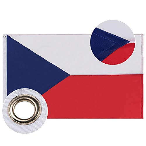Lixure Tschechische Republik Flagge/Fahne 90x150cm Top Qualität Europa Länder Nationalflaggen - Durable 210D Nylon Draußen/Drinnen Dekoration Flagge MEHRWEG