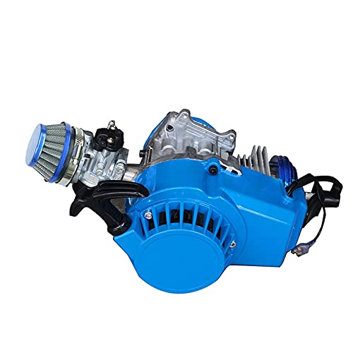 CABE DE CECIMIENTO CNC CNC de alto rendimiento 47cc 49cc 2 Stroke Easy Pull Start Motor para bicicleta de bolsillo Mini ATV Scooter de gas (Color : Blue)
