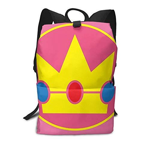 MIAOGOU Super Mario Bros Mario Bros Rucksack Princess Peach Rucksäcke Teenager Hochwertige Tasche Männer - Frauen Multi Pocket Trend Pattern Einkaufstaschen