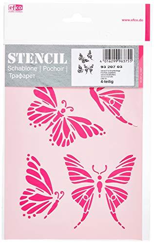 efco Schablone mit Schmetterlings-Motiv, 4Designs, aus Kunststoff, transparent, DIN A5