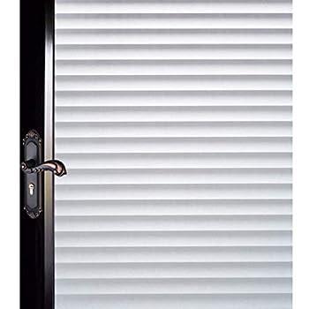 DUOFIRE Window Film Blinds Pattern Privacy Window Film Glass Film Static Cling Glass Film No Glue Anti-UV Window Sticker for Bathroom Bedroom Living Room DP040  35.4 x 157.4 inch