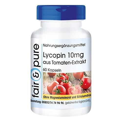 Lycopin Kapseln 10mg - Carotinoid aus Tomatenextrakt - vegan - ohne Magnesiumstearat - 60 Kapseln