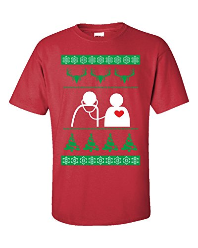 Ugly Christmas Sweater medicina médico enfermera lactancia regalo – Adulto camiseta
