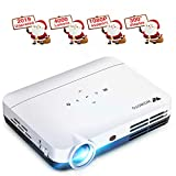 Projector WOWOTO H9 4000 Lumens Mini Projector LED DLP 1280x800 Real Home...