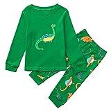 Conjuntos Bebé Niño,Subfamily Conjunto de Ropa de Deporte/Pijamas de Bebe Camiseta de Manga Larga con Estampado de Dinosaurio para niños + Traje de Dos Piezas, 24 Meses a 7 años