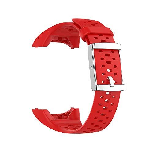 WIIKAI Cinturino Compatibile per Polar M400/M430 Regolabile di Ricambio Bracciale.(Rosso)