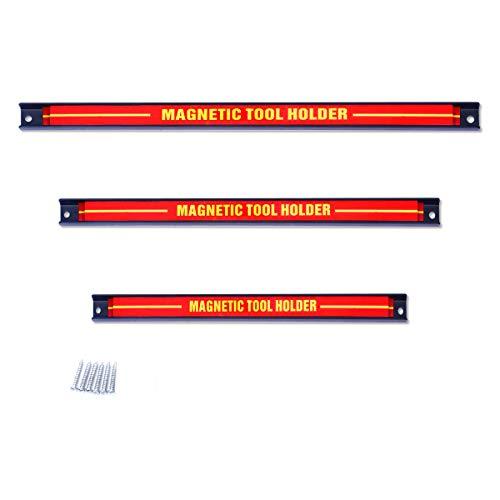 DREAMADE Magnetleiste Werkzeugleiste an der Wand, Magnet Werkzeughalter Werkzeughalterung, Halterung Werkzeug Magnetleiste Set (3)
