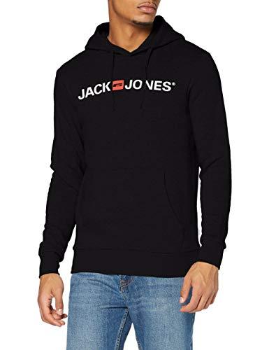 JACK & JONES Jjecorp Logo Sweat Hood Noos Shirt À Capuche, Noir (Black Detail:reg Fit), Medium Homme