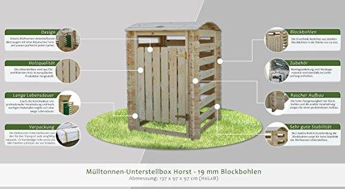 Mülltonnen-Unterstellbox Horst- H137xL97xB97 - 3