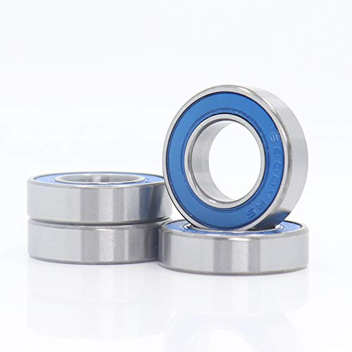6800 VRS MAX Cartridge Bearings, Size 10x19x5mm Chrome Steel Blue Sealed with Grease, 6800LLU Cart Full Balls Bearing for MTB Hub Pivot, (Pick of 4Pcs)