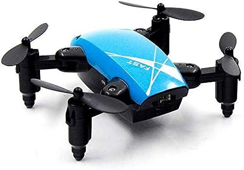 FODUIV Mini RC Drohne 2.4G 4CH 6-Achsen Faltbarer RTF Quadcopter H nstand EIN-Tasten-Hubschrauber ohne Kopf blau Flugzeug