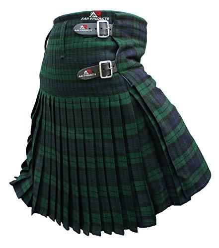 AAR Mens Kilt Scottish Tartan Kilt 13oz Highland Casual Kilt 4 Tartans
