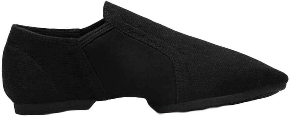 Panda Legends Canvas Ballet Slipper Women Ballet Shoes Rubber Sole Slip On Jazz Shoes Yoga Dance Shoes for Outdoor, Black