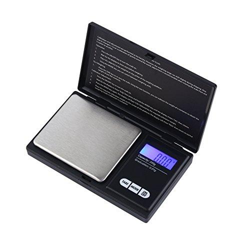 Gugxiom Bilancia Digitale Tascabile, Bilancia Tascabile con Display Digitale LCD HD Portatile per Forniture da Cucina Domestica