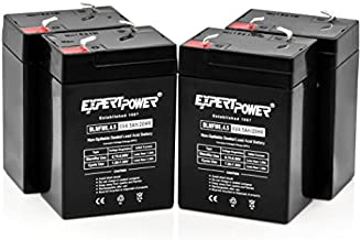ExpertPower 6 Volt 4.5 Amp Rechargeable Battery (4 Pack)