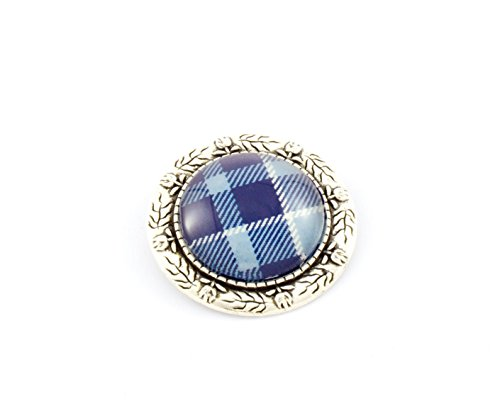 Silver Stag of Scotland Stand Tartan Brooch