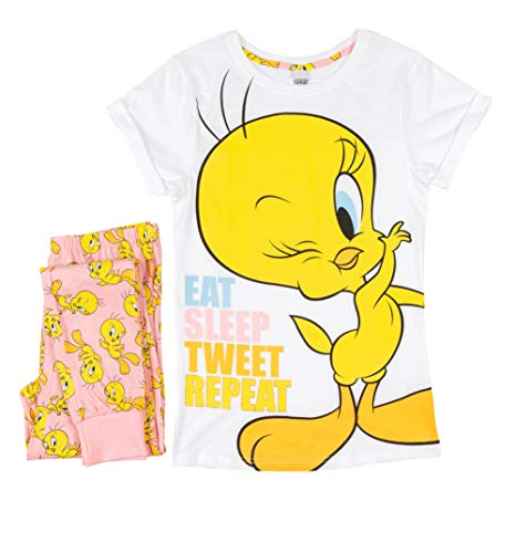 TDP Textiles Womens Tweety Pie Eat Sleep Pyjamas