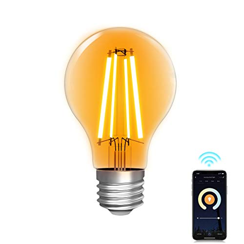 WLAN Glühbirne Alexa,Lumary WiFi Smart Edison Vintage Glühbirnen LED E27,7W ersetzt 70W LED Birne Lampe,Dimmbar Warmweiß Kaltweiß 2200K-6500K Retro Glühlampe kompatibel mit Echo,Google Home,806LM