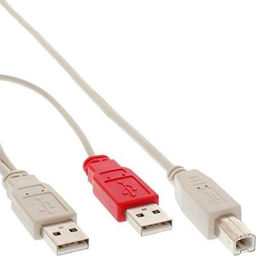 InLine 20457 Cavo USB 2.0, Sdoppiatore Y, 2X Type-A Maschio a Type-B Maschio, 1 M, Nero
