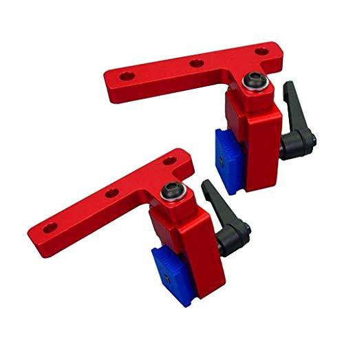 2 Pezzi Mitra Track Stop Tracciato Mitigazione T-Slot Lavorazione Legno Lega Alluminio