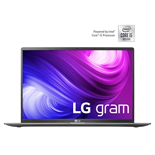 LG gram 17 Zoll Ultralight Notebook - 1,35 kg leichter Intel Core i5 Laptop (8GB DDR4 RAM, 512 GB SSD, 17 h Akkulaufzeit, IPS Display, Thunderbolt 3, Windows 10 Home) - Dunkelgrau