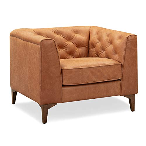 Poly and Bark Essex Sofa in Full-Grain Semi-Aniline Italian Tanned Leather in Midnight Blue