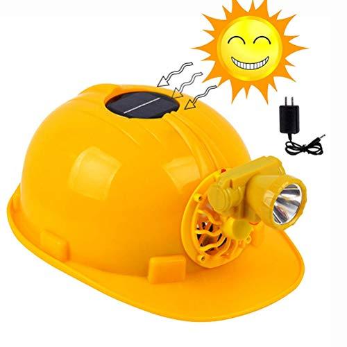 Solar Fan Cap Summer Cooling Schutzhelm mit LED Lampe Charging Engineering Construction Schutzhelm Arbeitsschutzhelm