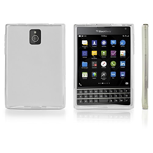 BlackBerry Passport Case, BoxWave [Arctic Frost Crystal Slip] Flexible, Form Fitting, TPU Case for BlackBerry Passport - Frosted Clear