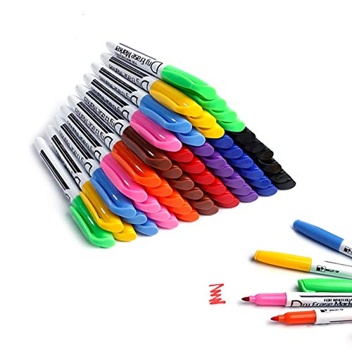 Whiteboard Pens White Board Markers Dry Wipe Pens for Whiteboard No toxic Fine tip Thin Box Pack of 60,10 colors