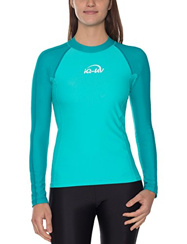 IQ UV Schutz Shirt Damen UV-Schutz Schwimmen Tauchen, türkis (Caribbean), M