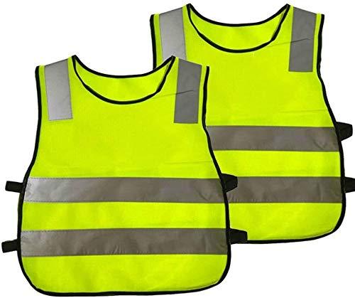 Fitnessuitrusting Afslanken Fietsveiligheidsvesten Hoge zichtbaarheid Reflecterend vest Fluorescerende pak Werkkleding Taillejas 4 Band Elastische bandjes Wandelen Fluorescerende Geel
