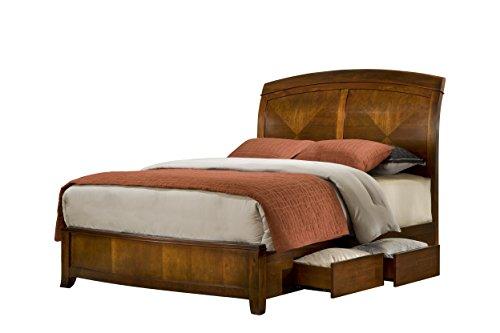 Modus Furniture Brighton Storage Bed, Wood, Cinnamon, King