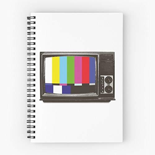 Picture Retro Testbild Tv Screen Focusing Monitor Tube Boob Nettes Schul-Fünf-Sterne-Spiral-Notizbuch mit haltbarem Druck