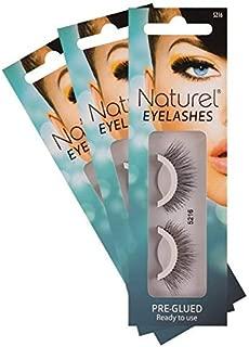 Reusable Fake Eyelashes – Lightweight, Self-Adhesive False Lashes – No Sticky Lash Glue Required: 3 Sets