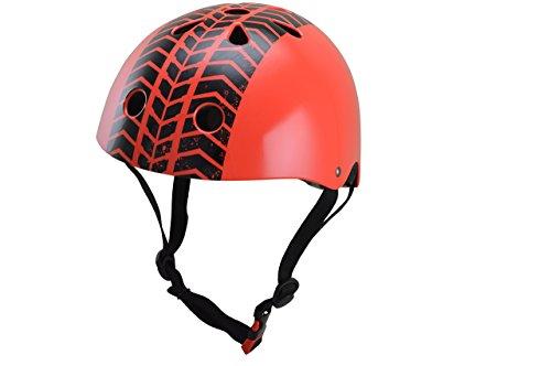 kiddimoto 2kmh030m - Design Sport Helm Tyre, Street Fighter M für Kopfumfang 53-58 cm, 5-12+ Jahre
