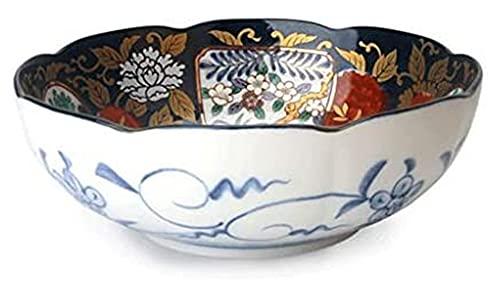 Casa Cocina Ensalada Cuencos Ramen Sopa tazones, mezclando Cereales Conjunto de tazón de cerámica Estilo vajilla Estilo Grande Vintage Plato (Size : Large)
