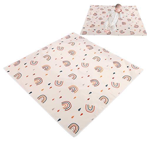 Zerodis 100 * 100 cm Baby Esszimmerstuhl Matte Waschbare Bodenschutzmatte Wasserdicht Unter Hochstuhl Bodenschutz für Unter Hochstuhl(110 * 110CM)