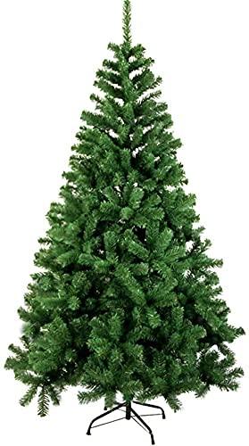ZYDSN Árbol de Navidad artificial de pino árbol de Navidad con patas de metal sólido, perfecto para decoración de interiores y exteriores (color: verde; tamaño: 300 cm)