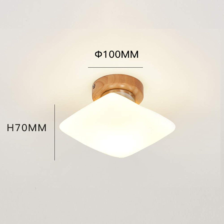 Modern LED E27 Massivholz Moderne Deckenleuchte, Mini Aufputz Deckenleuchten für Schlafzimmer Eingang Flur Raumdekoration Deckenbeleuchtung-H D  10 cm  T  7 cm ( Farbe   H , Größe   D 10cmT 7cm )