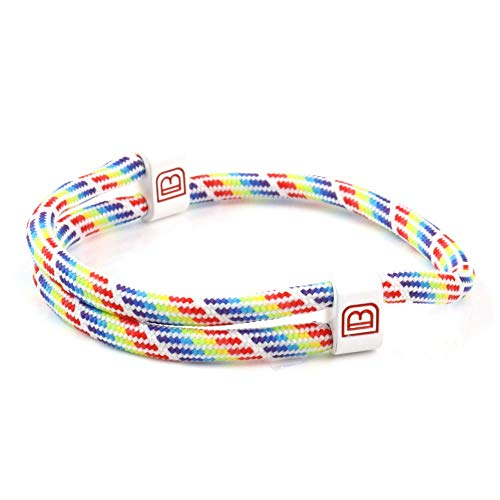 Dowling Brothers Paracord Adjustable Handmade Sport Bracelet (Rainbow)