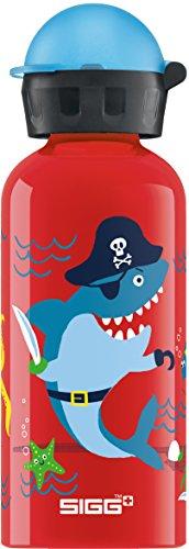 SIGG Underwater Pirates Borraccia bambini (0,4l), Borraccia alluminio con chiusura ermetica e priva di sostanze nocive, Borraccia bimbi super leggera in alluminio