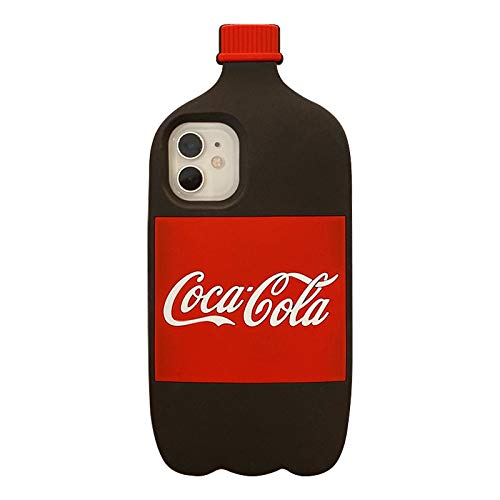 Thick Soft Silicone Cases Covers for Apple iPhone 7Plus 8Plus 7 8 Plus Cocacola Coke Coca Cola Bottle 3D Cartoon Cute Lovely Fun Cool Girls Kids Teens Men Guys Boys