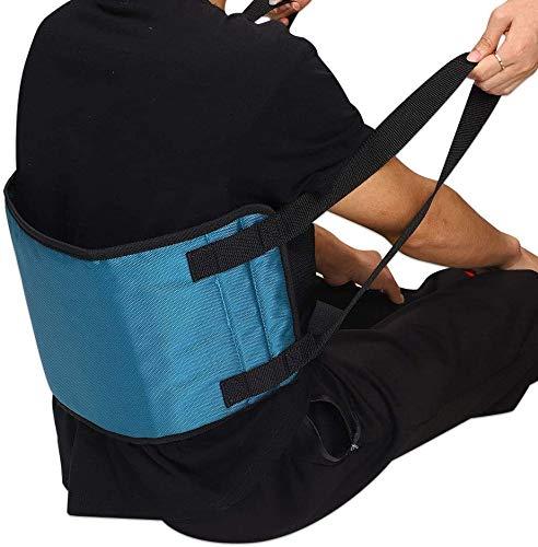 Transfergürtel mit Griffen Patientenlifter Pflegehilfsmittel, Stehhilfegürtel für ältere Menschen im Rollstuhl (grün)