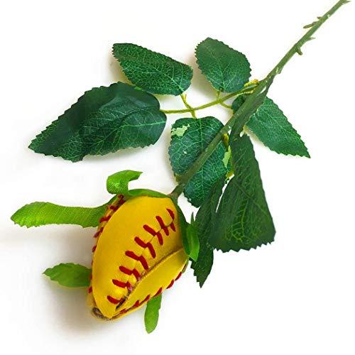 ChalkTalkSPORTS Softball Rose | Softball Gifts Genuine Softball Leather